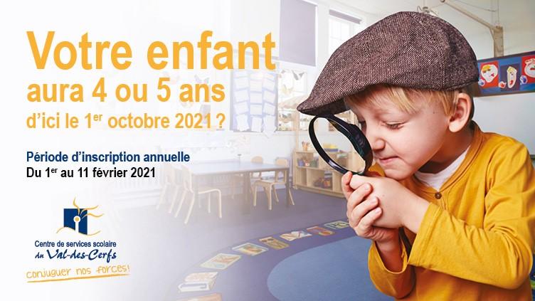 Période d'inscription à la maternelle 2021-2022: Ne tardez plus!